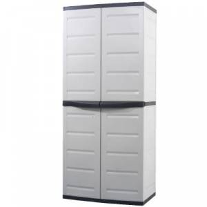 Wide Resin Tall Utility Cabinet